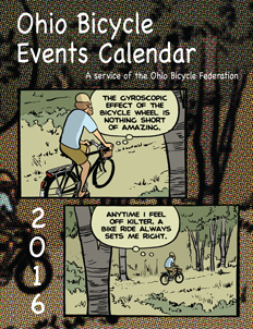 Image: Cover of the 2016 Ohio Bicycle Events Calendar